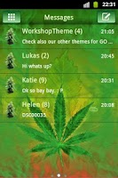 Screenshot of GO SMS Theme WEED GANJA