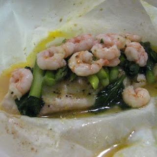 Tilapia En Papillote With Asparagus & Shrimp