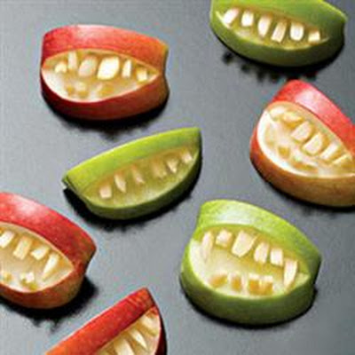 Halloween Fruit Apple Teeth Treats