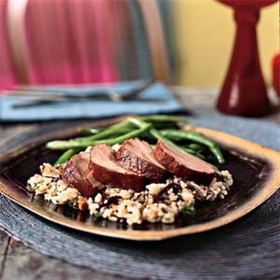 Pork Tenderloin with Pomegranate Glaze
