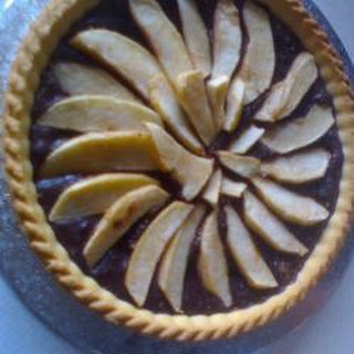 Scrumptious Chocolate And Pear Tart