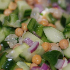 Sesame Garbanzo Cucumber Salad