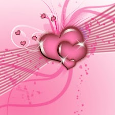 Pink Flying hearts