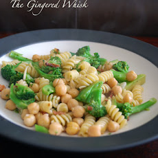Penne with Broccoli Rabe, Bacon, and Chickpeas