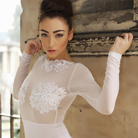 by Monika Schaible - People Fashion ( lace, fashion, monika schaible, white dress )