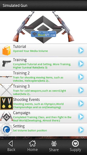 simulated-gun for android screenshot