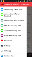 Screenshot of Wedding Anniversary Quotes SMS