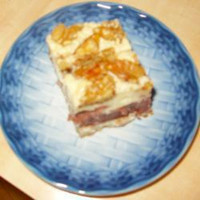 Walnut and Red Bean Paste Cake