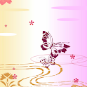 Cherry blossom and Butterfly icon