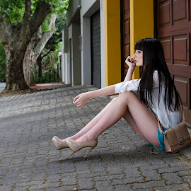Suburban Bliss by Giselle Hammond - People Fashion ( model, fashion, girl, suburb, johannesburg, streets, heels, pretty, photography )