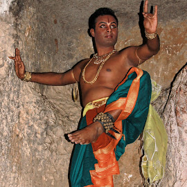 Tandava 2 by Amit Bhattacharjee - People Musicians & Entertainers ( performer, bharatnatyam, cave, dance, dancer )