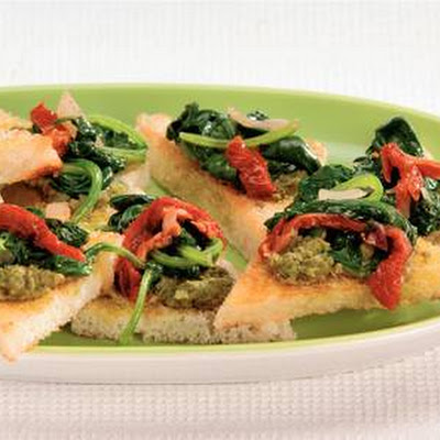 Crostini Met Spinazie En Pesto
