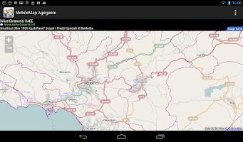 Screenshot of MobileMap Agrigento