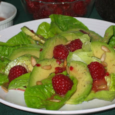 Raspberry Vinaigrette, Avocado & Romaine