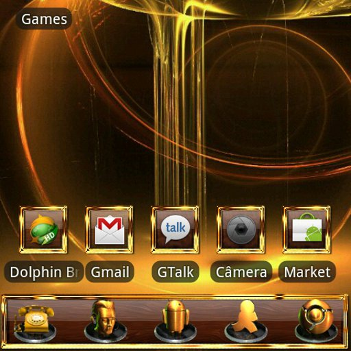 GOLD Go Launcher EX theme
