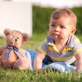 Hey Mom, I'm hungry by David BugsRacer - Babies & Children Babies ( 9 months, teddy bear, baby, cute )