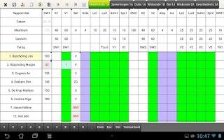 Screenshot of MyRo Puntenboek