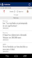 Screenshot of RC Deportivo de La Coruña App