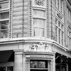 Rendezvous Lounge  by Troy Snider - Buildings & Architecture Office Buildings & Hotels ( street, stone, architecture, hotel, buliding, bar, city )