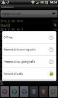 Screenshot of Call Record