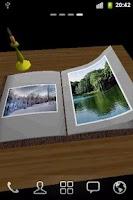 Screenshot of Photo Book 3D Live Wallpaper