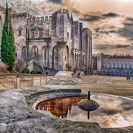 Palais des Papes by Alessandro Scacchetti - Buildings & Architecture Statues & Monuments