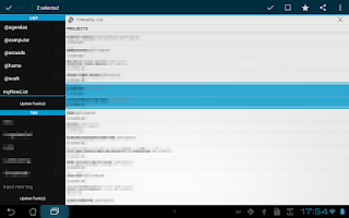 Screenshot of Simpletask Cloudless