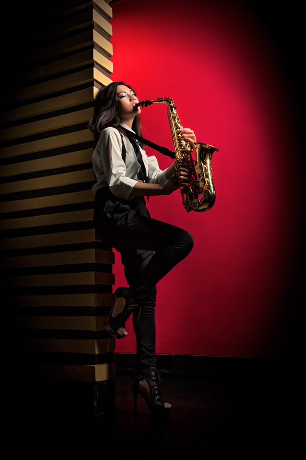 Soul of Sax by Irwan Kairuman - People Fashion ( playing, fashion, model, saxophone )