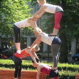 Street Acrobatics  by Miri Mor - Sports & Fitness Fitness ( acrobatics, helsinki, finland, show, travel, people, women,  )