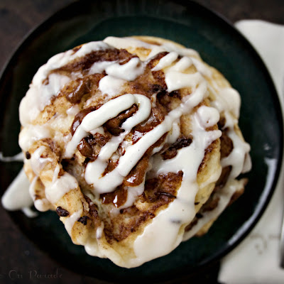 Coconutty Cinnamon Roll Pancakes
