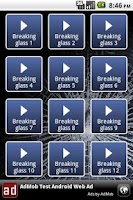 Screenshot of Breaking glass soundboard