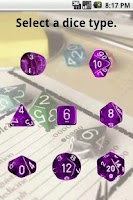 Screenshot of Dice Roller for RPG