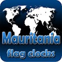 Mauritania flag clocks icon