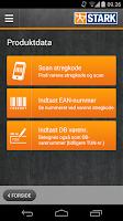 Screenshot of STARK Håndværker-app