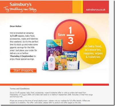 sainsbury nappies