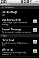 Screenshot of Morse Code