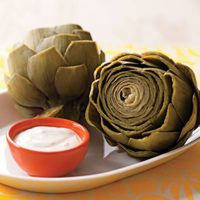 Artichokes with Lemon-Garlic Sauce
