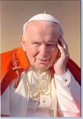 Mamá María del Carmen y S.S. Juan Pablo II