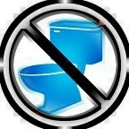 No toilet!