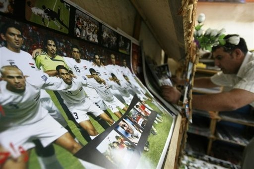 Soccer posters for sale in Baghdad - Thursday May 29, 01:26 PM