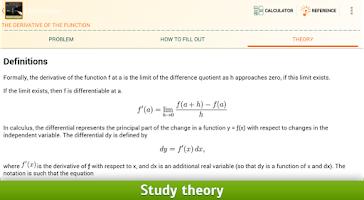 Screenshot of Math Helper - Algebra Calculus