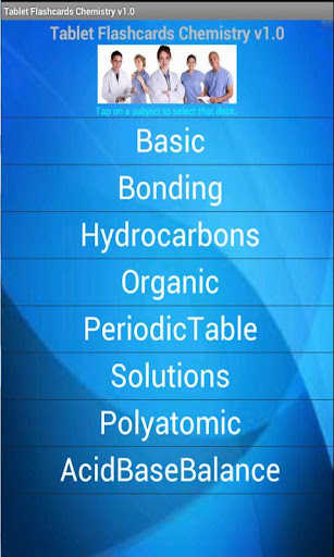 Tablet Flashcards Chemistry