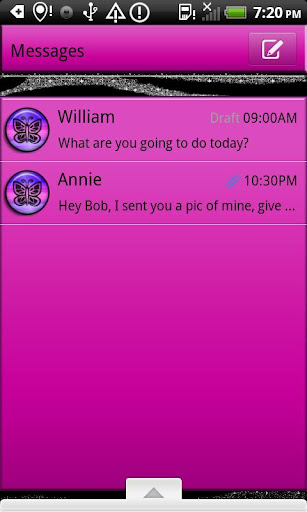 GO SMS THEME SparkleZebra4U2