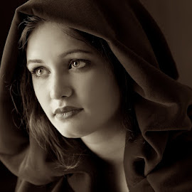 The Hooded Lady by Scott Koukal - People Portraits of Women