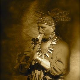 Jim Sawgrass - Creek Indian by Emily Harrison - People Portraits of Men ( history, creek indian, liberty county georgia, native american history, sawgrass,  )