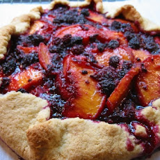 Peach & Mountain Blackberry Tart