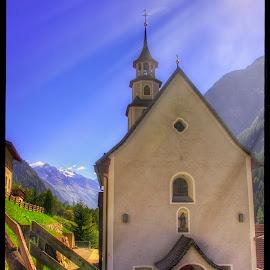church by Petr Klingr - Landscapes Travel ( church, hdr, rays, sun, alps )