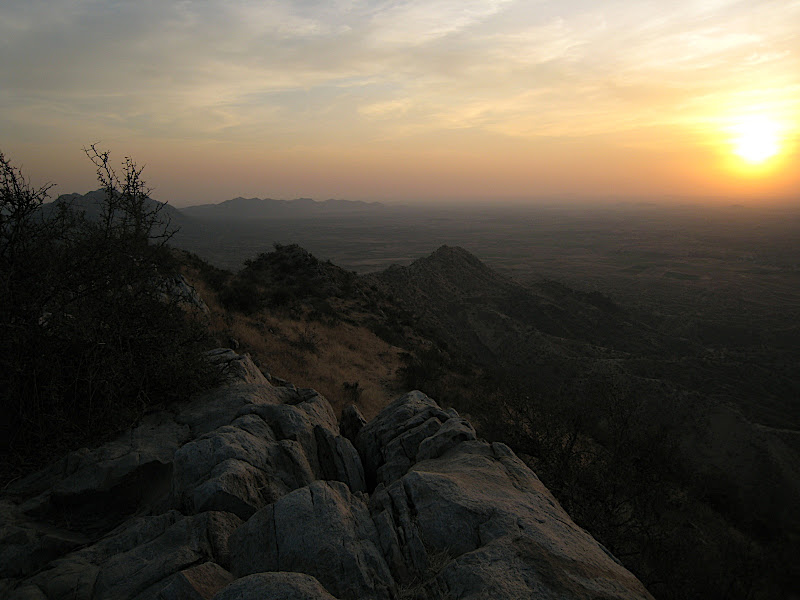 Sunset from a hilltop near Pushkar