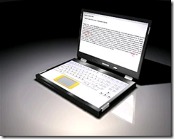 V12 DESIGN dual-touchscreen laptop