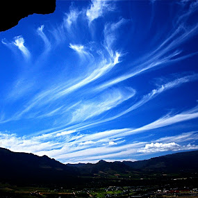silver mine by Magdalena Wysoczanska - Landscapes Cloud Formations ( clouds, sky, blue, view, cave, noordhoek, south africa, noordhoekchallenge )